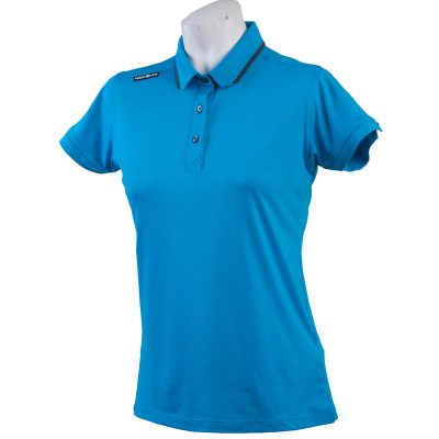 Crest Link Ladies Golf Shirt – Blue