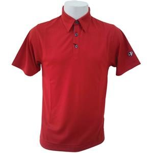 Crest Link Men's Golf Polo – 80-1163 Chilli Red XL