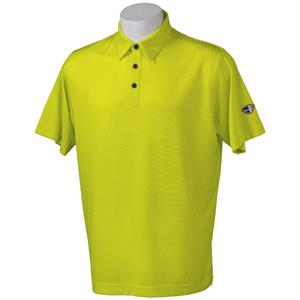 Crest Link Men's Golf Polo – 80-1163 Yellow – Med