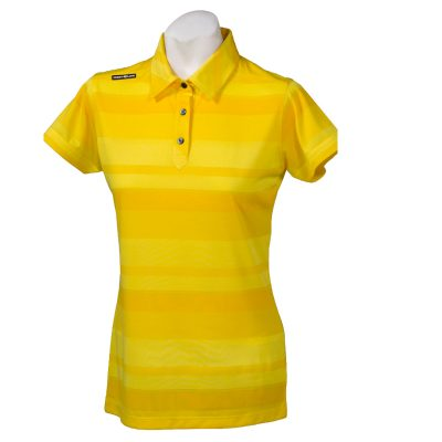 Crest Link Ladies Golf Shirt – Yellow – Large