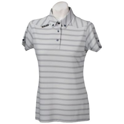 Crest Link Ladies Golf Shirt – Grey Large