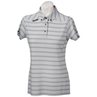Crest Link Ladies Golf Shirt – Grey Large