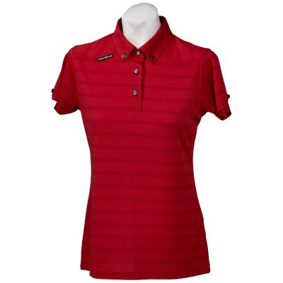 Crest Link Ladies Golf Shirt – Red – Large