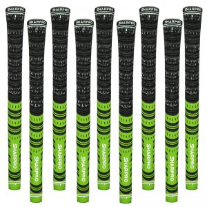 9 Shappro Dual Compound Golf Grips – Green