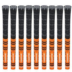 9 Shappro Dual Compound Golf Grips – Orange