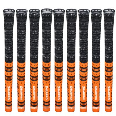 9 Shappro Dual Compound Golf Grips – Orange