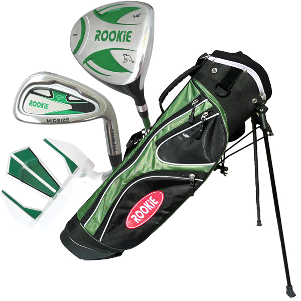 Rookie 4 Pce Kids Golf Set Green 7 to 10 YRS