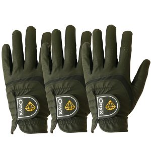 ONYX Mens Golf Gloves Left Hand Black 3 Pack
