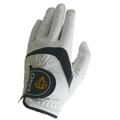 Onyx Junior Golf Glove | Kids Golf Glove | Left Hand Medium White