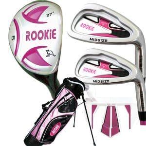 Rookie Kids Golf Set RH |  5 Pce Pink 7 to 10 YRS