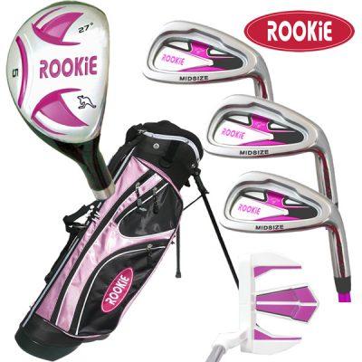 Rookie Kids Golf Set RH |  6 Pce Pink 7 to 10 YRS