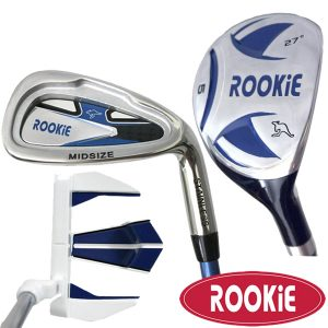 Rookie Junior Golf Set RH |  3 Pce Blue 4 to 7 YRS with Hybrid