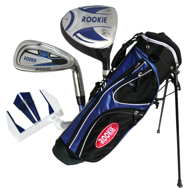 Rookie 4 Pce Kids Golf Set Blue 4 to 7 YRS
