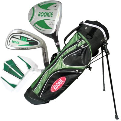 Rookie 4 Pce Kids Golf Set Green 7 to 10 YRS