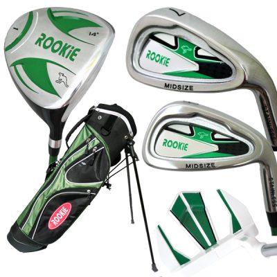 Rookie 5 Pce Kids Golf Set Green 7 to 10 YRS