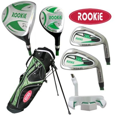 Rookie 6 Pce Kids Golf Set Green 7 to 10 YRS