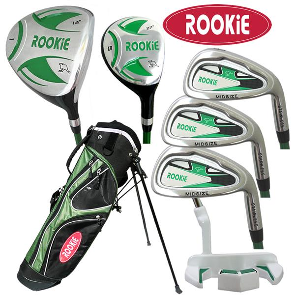 Rookie 7 Pce Kids Golf Set Green 7 to 10 YRS