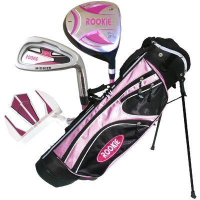 Rookie 4 Pce Kids Golf Set Pink 7 to 10 YRS