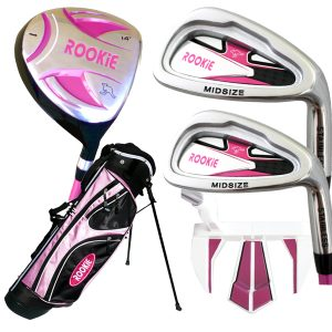 Rookie 5 Pce Kids Golf Set Pink 7 to 10 YRS