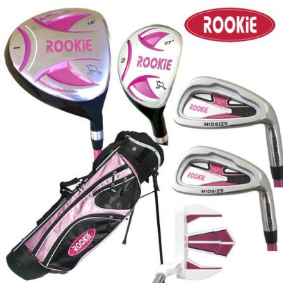 Rookie 6 Pce Kids Golf Set Pink 7 to 10 YRS