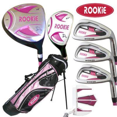 Rookie 7 Pce Kids Golf Set Pink 7 to 10 YRS
