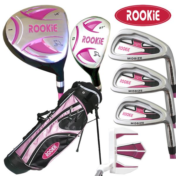 Rookie 7 Pce Kids Golf Set Pink 7 to 10 YRS