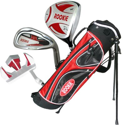 Rookie 4 Pce Kids Golf Set Red for 10 Yrs & Over