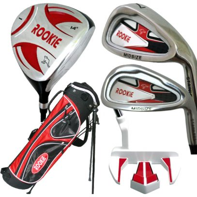 Rookie 5 Pce Kids Golf Set Red for 10 Yrs & Over