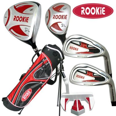Rookie 6 Pce Kids Golf Set Red for 10 Yrs & Over