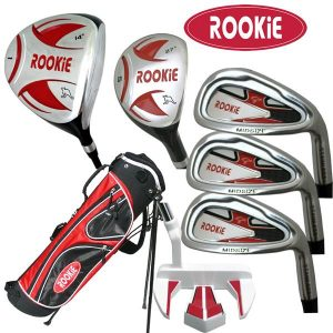 Rookie 7 Pce Kids Golf Set Red for 10 Yrs & Over