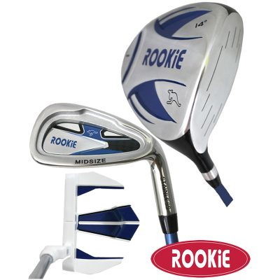 Rookie Junior Golf Set RH |  3 Pce Blue 4 to 7 YRS