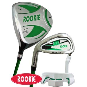 Rookie Junior Golf Set LH | 3 Pce Green 7 to 10 YRS