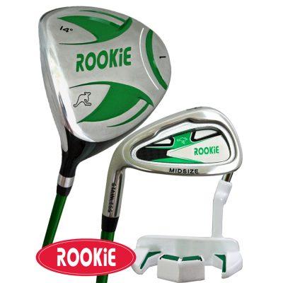 Rookie Junior Golf Set LH |  3Pce Green 7 to 10 YRS