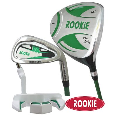 Rookie Junior Golf Set RH |  3 Pce Green 7 to 10 YRS