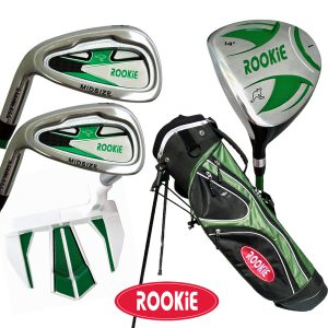 Rookie Junior Golf Set LH |  5 Pce Green 7 to 10 YRS