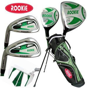 Rookie Kids Golf Set LH |  6 Pce Green 7 to 10 YRS
