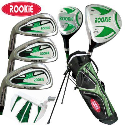 Rookie Kids Golf Set LH |  7Pce Green 7 to 10 YRS