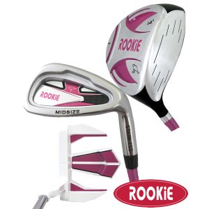 Rookie Junior Golf Set RH |  3Pce Pink 7 to 10 YRS