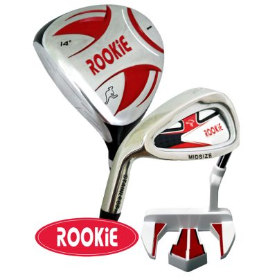 Rookie Junior Golf Set LH |  3Pce Red 10 years +