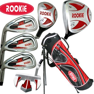 Rookie Kids Golf Set LH |  7Pce Red for 10 Yrs or Over