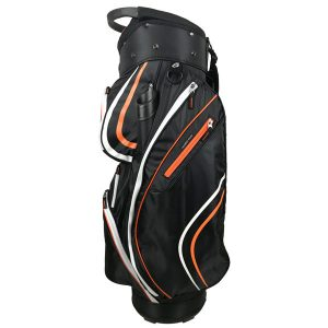 Onyx Spyder Golf Bag – Black-Orange-White