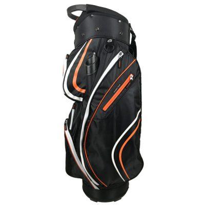 Onyx Spyder Golf Bag – Black-Orange-White