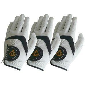 ONYX Mens Golf Gloves Left Hand White 3 Pack