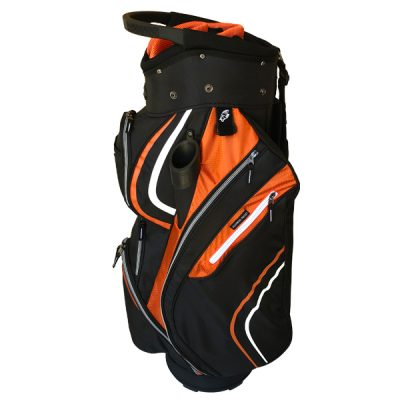 Onyx Spyder Cart Bag – Black-Orange