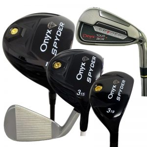 Onyx Spyder Mens RH 11 Piece Set – Graphite Woods | NS Pro Modus Steel Irons