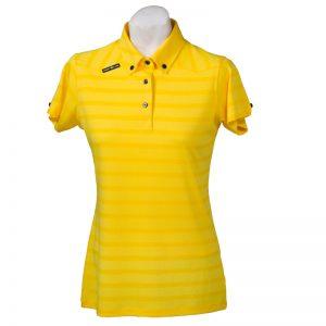 Crest Link Ladies Golf Shirt – Yellow – Small