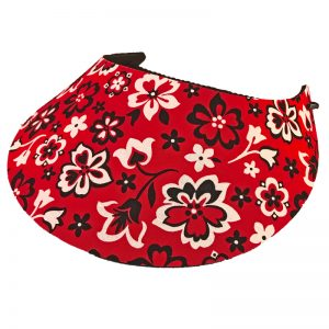 Ladies Red Dazzle Golf Visor