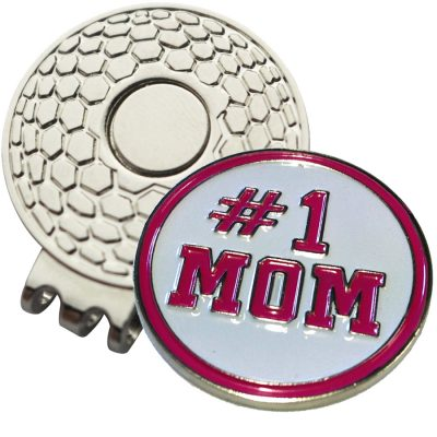 Golf Ball Marker on Magnetic Hat Clip – # 1 Mom
