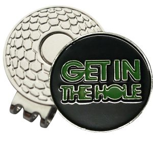 Golf Ball Marker on Magnetic Hat Clip – Get In The Hole