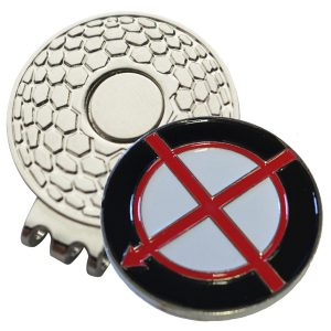 Golf Ball Marker on Magnetic Hat Clip – Alignment Arrow